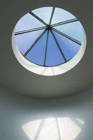 round window: Round window in the ceiling