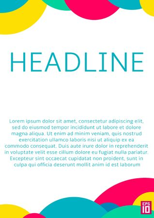 vector sample: Vector poster template with colorful circles and sample text