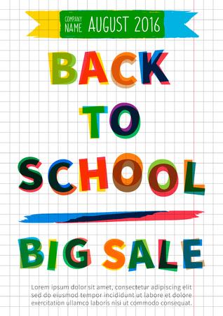 Back To School Big Sale Vector Banner. Advertising Template Big ...