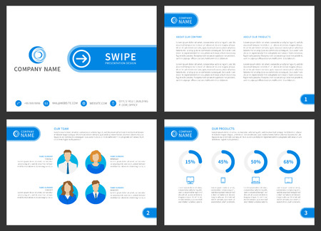 presentation vector layout for corporate documents annual report
