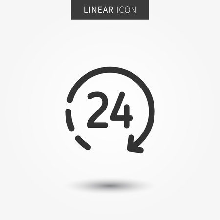 24 hour icon vector illustration. Isolated 24 hours symbol. Ilustrace