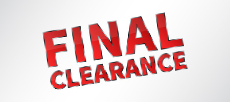 clearence: Banner Final Clearance vector illustration on grey background. Final Clearance horizontal creative concept for website banners, retail stores, advertising. Illustration