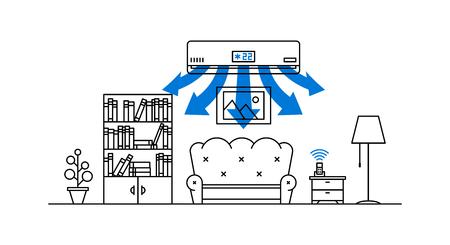 Binnenlandse airconditioner Vector Illustratie