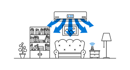 Domestic air conditioner Illustration