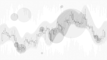 Grey color trade chart in financial market vector illustration on white background. Forex trading graphic design concept.