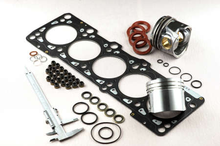 compression  ring: motor spare parts Stock Photo
