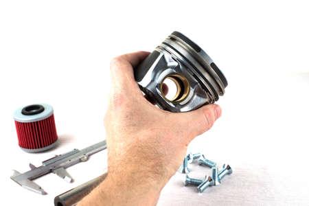 gudgeon: motor spare parts Stock Photo