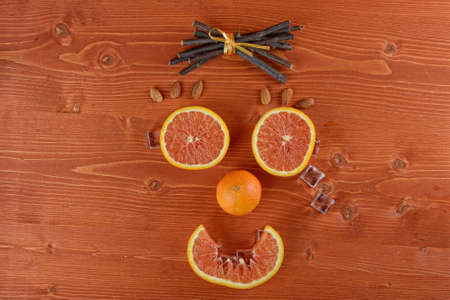 smiley: Orange smiley, halloween