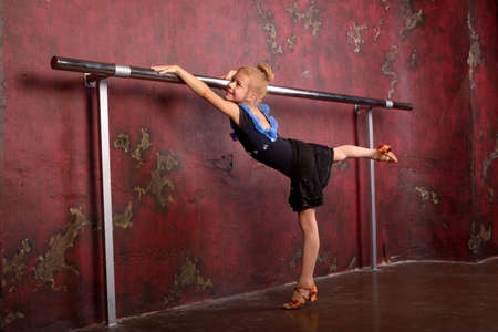 gym dress: child on the choreography classes
