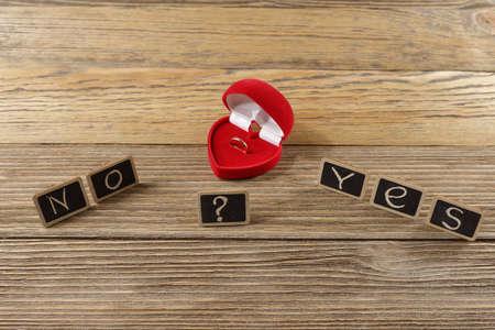 het woord van de brieven, ja of nee, aanzoek Stockfoto