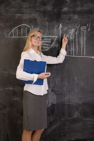doing business: Young woman doing business presentation