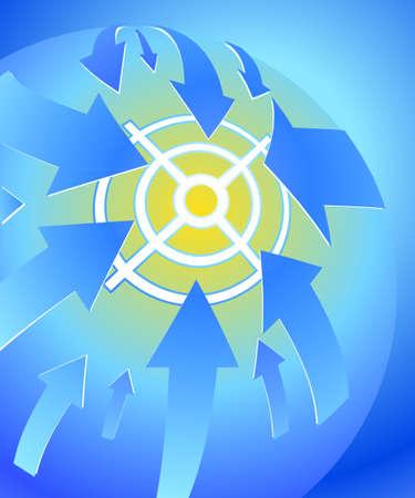 Planet at gunpoint Vector eps10. Vector