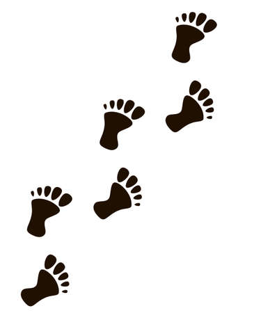 traces of man, vector isolated silhouette Vector