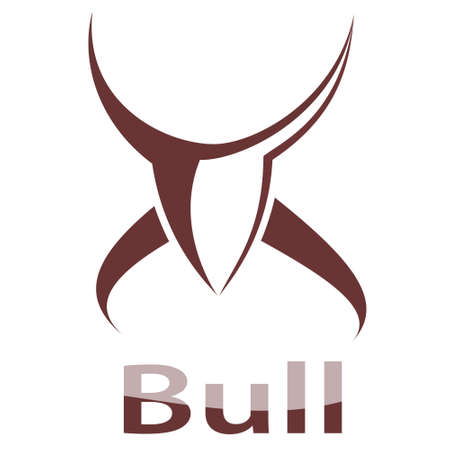 raging: Bull symbol vector illustration. Emblem. Illustration