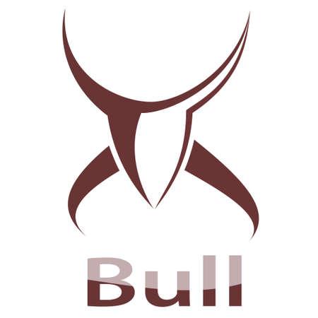 raging bull: Bull symbol vector illustration. Emblem. Illustration