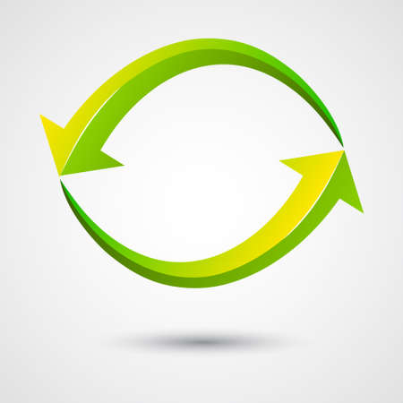 iterative: infinity arrow vector, illustration, symbol