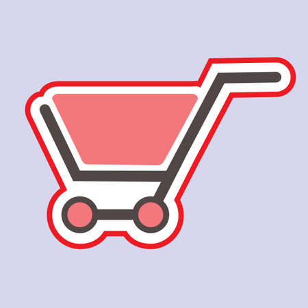 e retailers: Shopping cart sign, vector illustration