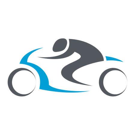 geïsoleerd motorrijder illustratie in zwarte lijnen