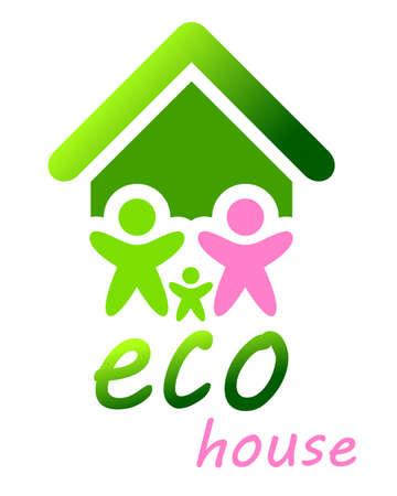 ecology, vector, illustration, green  house Ilustracja