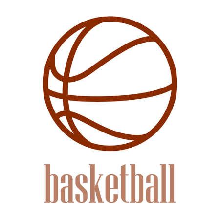 illustration d'une silhouette de basket-ball isolé dans un fond blanc.