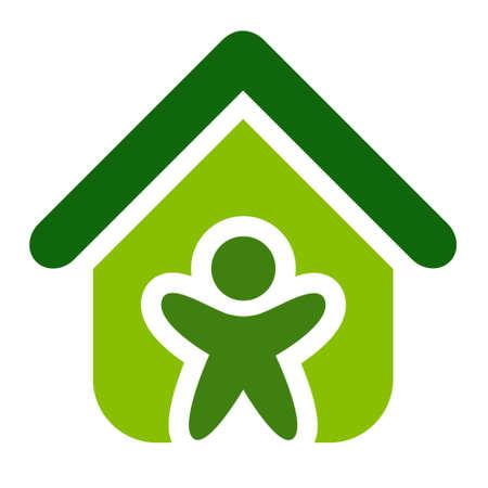 Green House Vector illustration symbol.