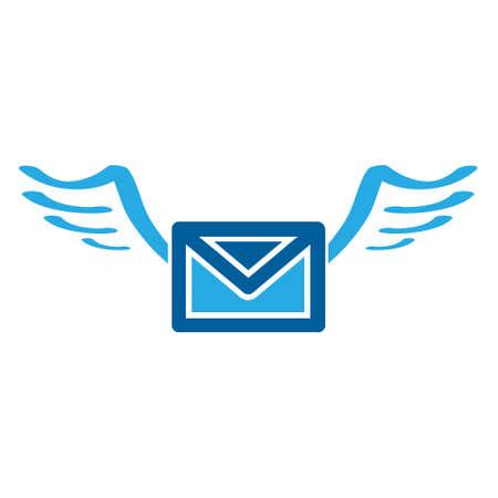 e-mail icon in black and white symbol Ilustracja