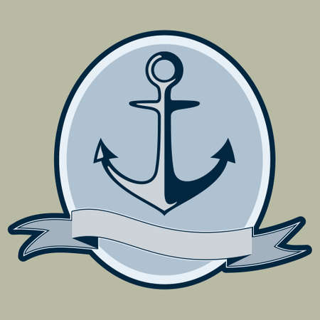 Vintage style nautical anchor and text design Illustration