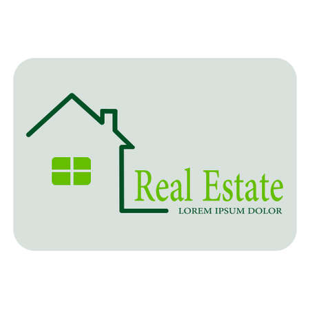 House for real estate Ilustracja