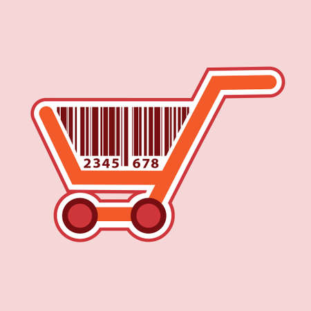shopping cart icon, shopping basket design- vector illustration Ilustracja