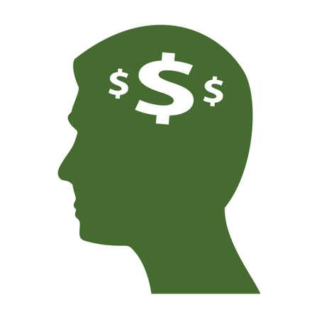 personas pensando: La gente que piensa en el dinero. Hombre de negocios y dinero.