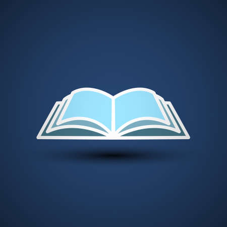 Vector Illustration of an open Book, icon, library. Ilustracja