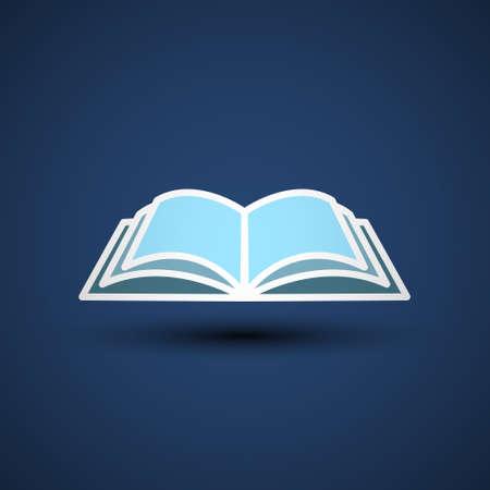 Vector Illustration of an open Book, icon, library. Vector