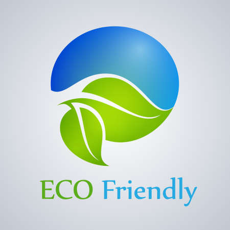 Eco friendly product, green, organic, icon, vector. Vector