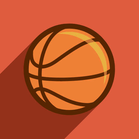 basketball flat design, sport, vector, orange, illustration. Vector