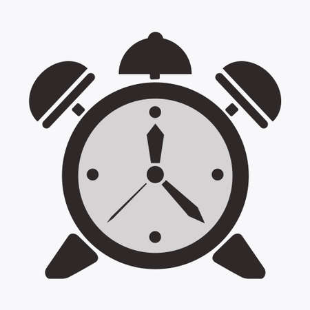 alarm clock vector illusration, symbol, time, icon. Vector