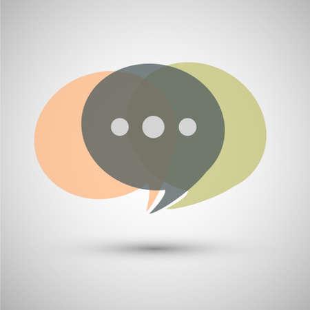 Chat icon vector, speak, sign, communication, website, symbol