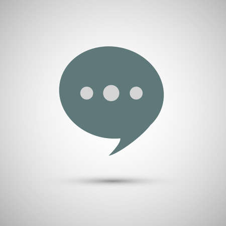 Chat icon vector, speak, sign, communication