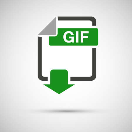 GIF file download document, on a gray background