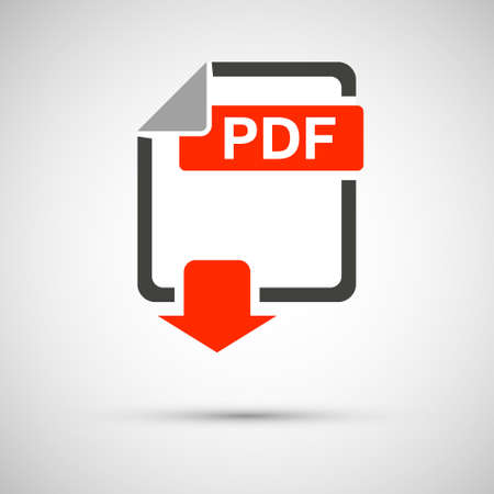 PDF file download document, on a gray background