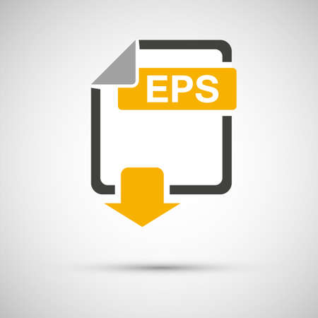 Eps file download document, on a gray background