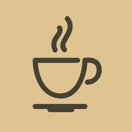 Coffee cup icon,on a gray background, vector illustration.