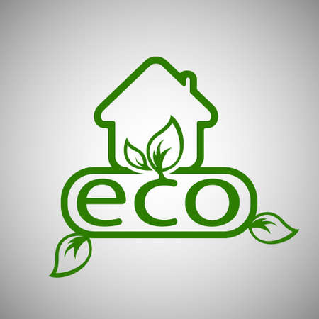 natural arch: Eco House Vector
