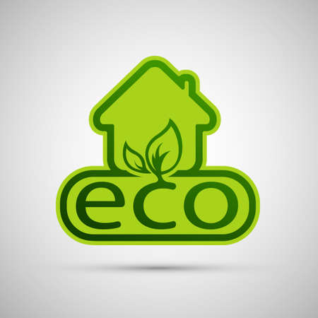 natural arch: Eco House Vector illustration