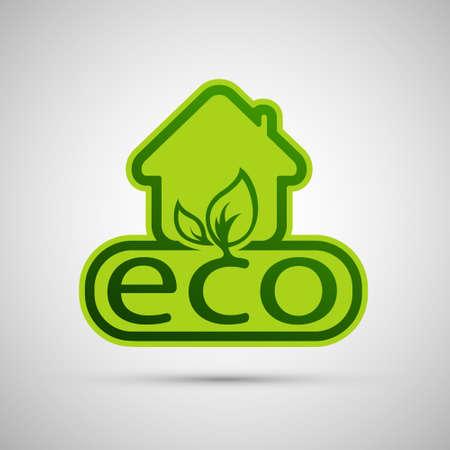 Eco House Vector illustration