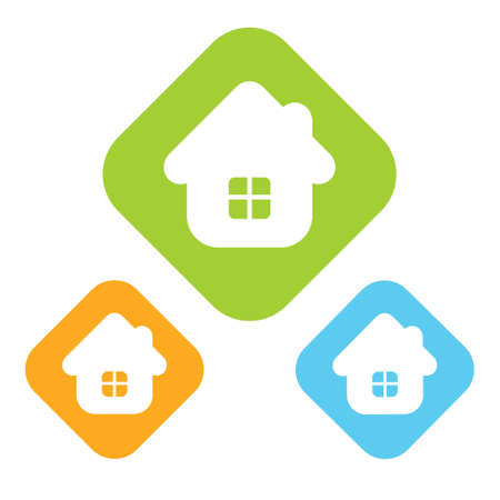 Real estate concept. Small house - icon isolated Ilustracja