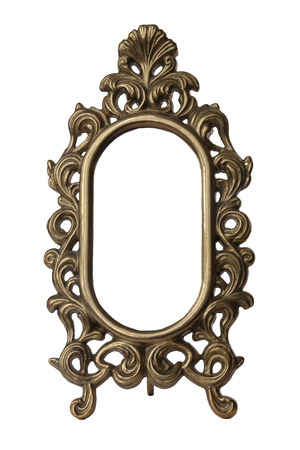 Old Mirror Frame Isolated On White Background. Useful As Picture ...
