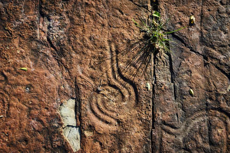 Rock paintings of ancient civilizations. Made by the aborigines of Central America by the Taino Indians. Includes ancient letters, signs and symbols.
