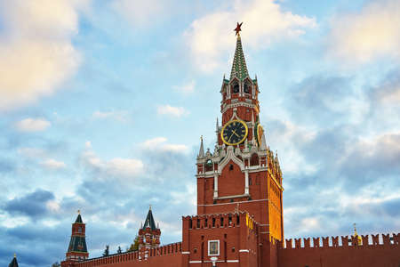10.28.2018 Red Square Moscow Kremlin Chimes. symbol of Russia. Редакционное