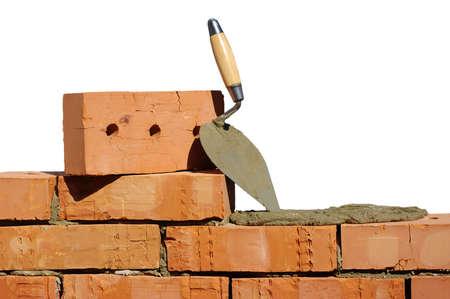 brique: Outil pour la pose et briques pour la construction
