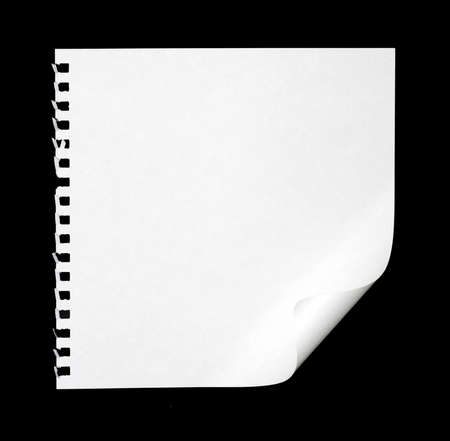 white paper of notebook on black photo